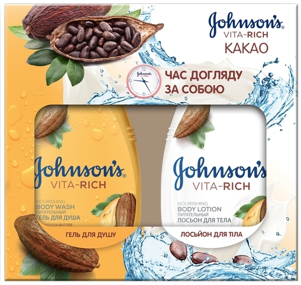 Подарочный набор Johnson's Body Care Vita Rich Какао, лосьон для тела + гель для душа (101020481)