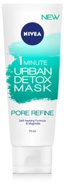 Маска для лица Nivea Urban Skin Detox Сужение пор за 1 минуту, 75мл