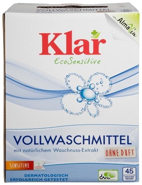 Универсальный органический стиральный порошок Klar, для белых и цветных тканей, 2,475 кг