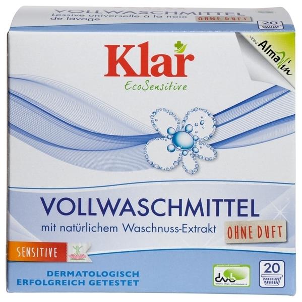 Универсальный органический стиральный порошок Klar, для белых и цветных тканей, 1,1 кг