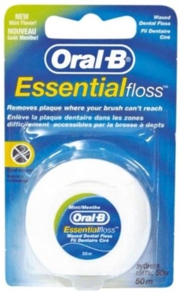 Зубная нить Oral-B Essential Floss Waxed, 50 м