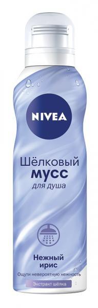 Шелковый мусс для душа Nivea Нежный ирис, 200 мл