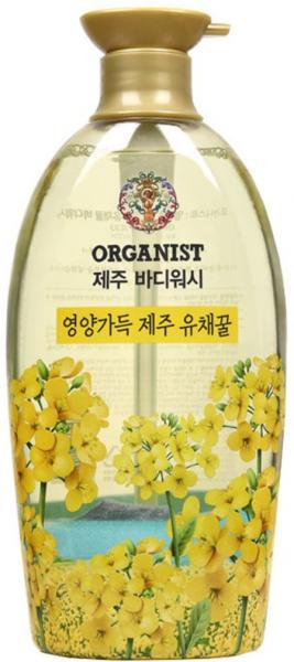 Гель для душа LG Household & Health On the Body Organist Jeju, с рапсовым медом, 750 мл