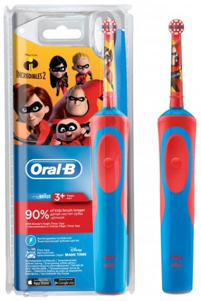 Детская электрическая зубная щетка Oral-B Stage Power Incredibles Суперсемейка (80313554)