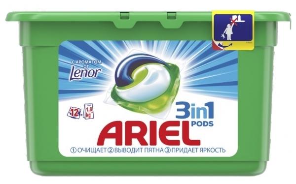 Капсулы для стирки Ariel 3 в 1 Pods, 12 шт.