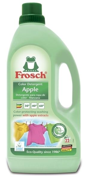 Концентрированное жидкое средство Frosch Яблоко, для стирки цветного белья, 1,5 л