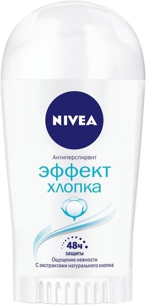 Дезодарант-антиперспирант Nivea Эффект хлопка, 40 мп