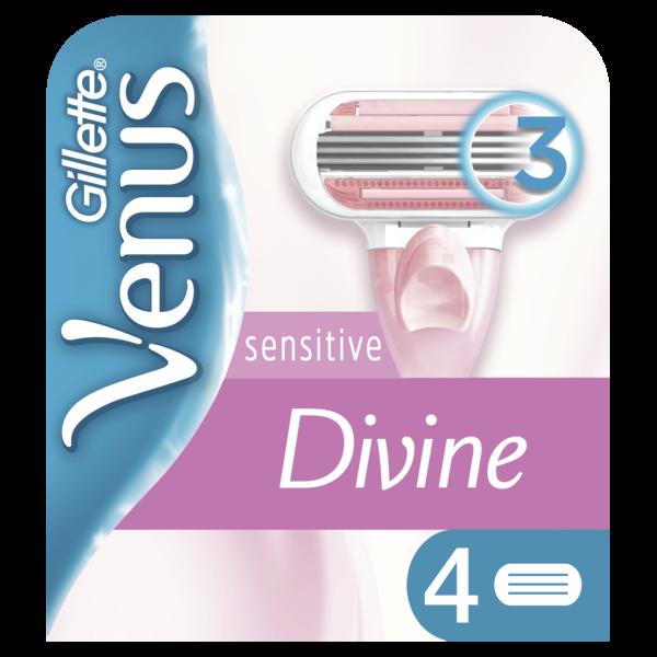 Cменные картриджи для бритья Venus Divine, 4 шт.