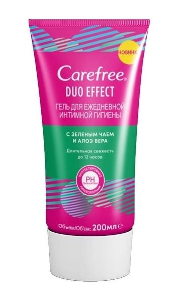 Гель для интимной гигиены Carefree Duo Effect, c зеленым чаем и алоэ вера, 200 мл