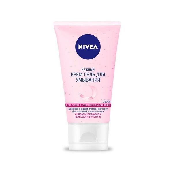 Крем-гель для умывания Nivea Aqua Effect, для сухой и чувствительной кожи, 150 мл