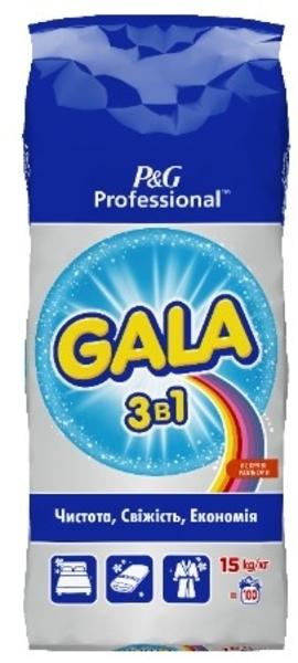 Стиральный порошок Gala 3в1 Яркие цвета, 15 кг