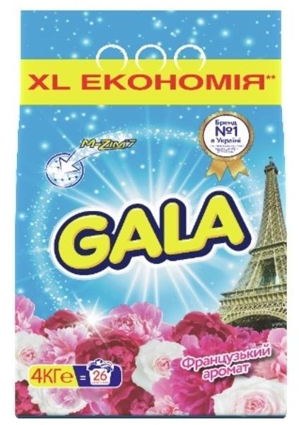 Стиральный порошок Gala Французский аромат, для белых и цветных тканей, 4 кг