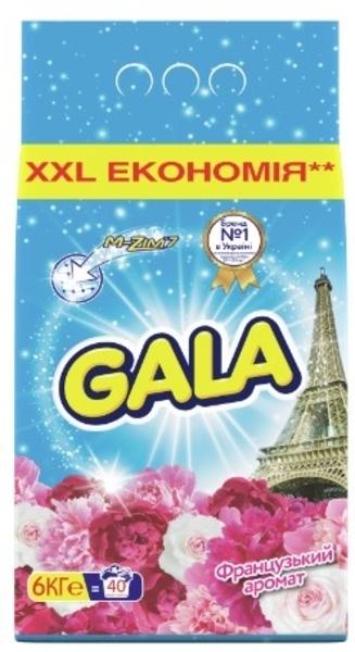Стиральный порошок Gala Французский аромат, для белых и цветных тканей, 6 кг