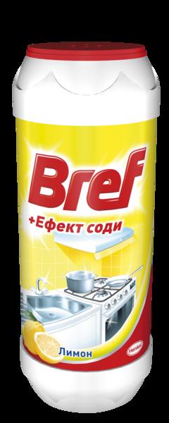 Чистящий порошок Bref + Эффект соды Лимон, 0,5 кг
