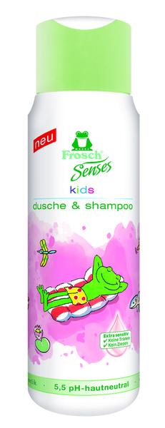 Детский гель-шампунь для душа Frosch, 300 мл