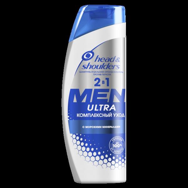 Шампунь для мужчин Head&Shoulders Ultra Комплексный уход 2 в 1, 400 мл
