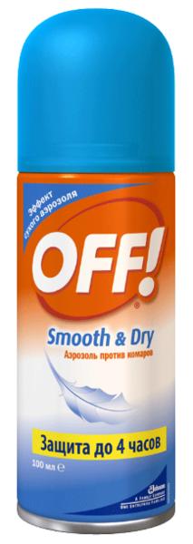 Аэрозоль OFF! Smooth & Dry от комаров, сухой, 100 мл