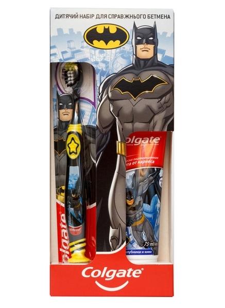 Набор для настоящего Бэтмена Colgate Зубная паста + щетка черная, от 5 лет