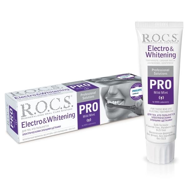 Зубная паста R.O.C.S. Pro Electro & Whitening Mild Mint, 94 г