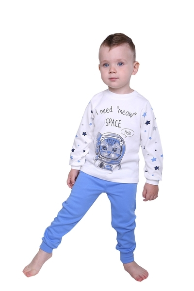 Пижама Модный карапуз, интерлок, р.98, голубой (03-01019_blakitnij_98)