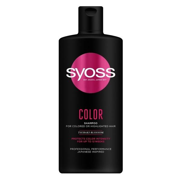 Шампунь Syoss Color с Цветком Камелии, для окрашенных и тонированных волос, 440 мл