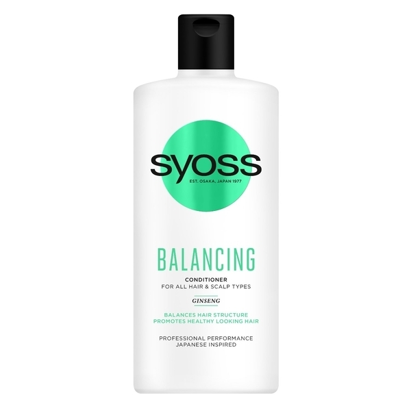 Бальзам Syoss Balancing с Женьшенем, для всех типов волос и кожи головы, 440 мл