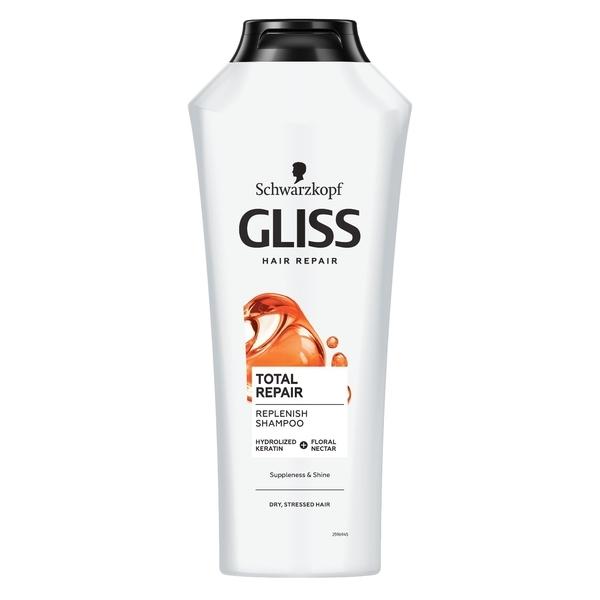 Шампунь Gliss Kur Total Repair, для сухих поврежденных волос, 400 мл