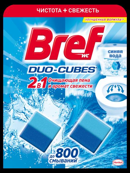 Туалетный блок для унитаза Bref Duo–Cubes, 100 г