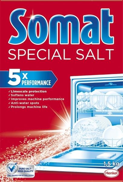 Соль для посудомоечных машин Somat Тройное действие,1,5 кг