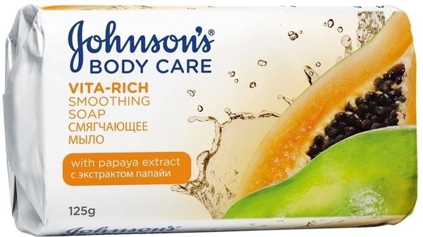 Мыло Johnson's Body Care Vita Rich Смягчающее с экстрактом папайи, 125 г