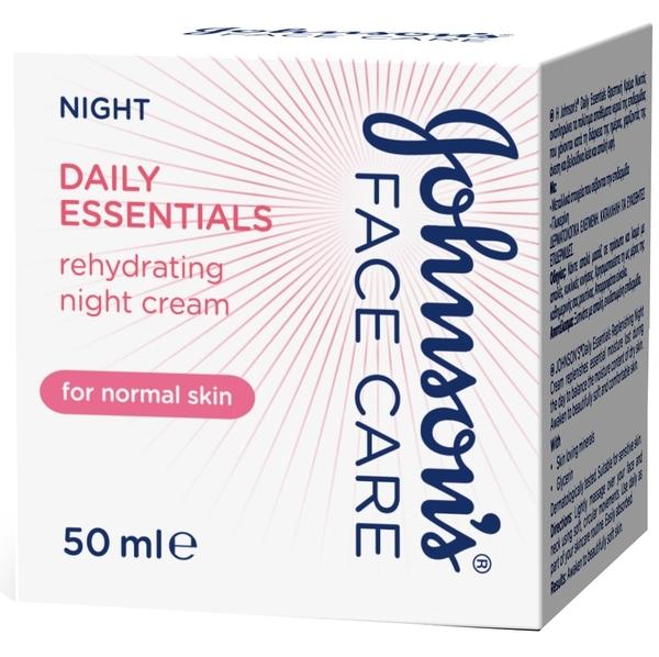Ночной увлажняющий крем Johnson`s® Daily Essentials для нормальной кожи, 50 мл