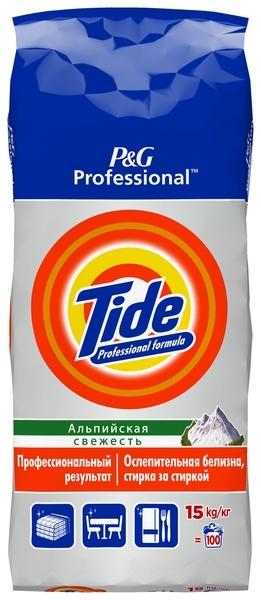 Стиральный порошок Tide Автомат Альпийская свежесть, для белых тканей, 15 кг