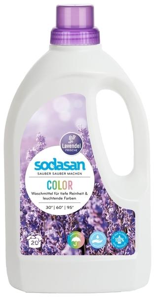 Органическое жидкое средство Sodasan Color Lavender для стирки цветных и черных вещей, 1,5 л