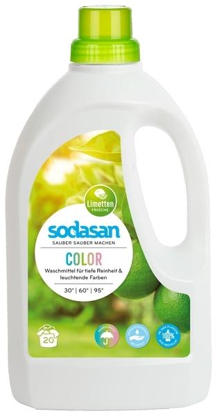 Органическое жидкое средство Sodasan Color для стирки цветных и черных тканей, 1,5 л