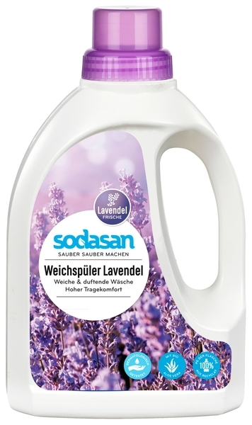 Органический ополаскиватель Sodasan Fabric Softener Лаванда, 750 мл