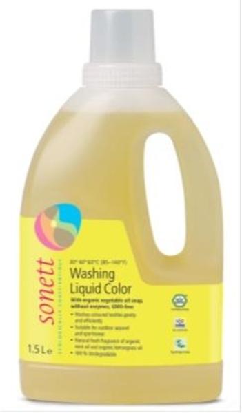 Концентрированное органическое жидкое средство Sonett для стирки цветных тканей, 1,5 л