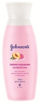Гель для душа Johnson`s® Свежие ощущения - Воображение с ароматом белого персика и чайной розы, 250 г Johnson`s®