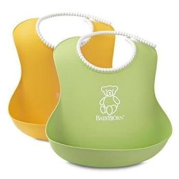 Набор из двух мягких нагрудников BabyBjorn, желтый и зеленый BabyBjorn