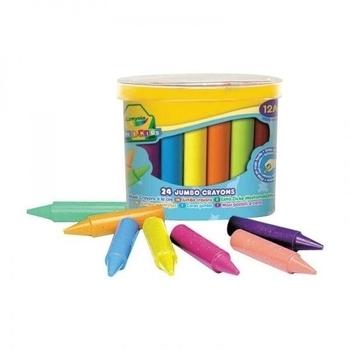 Восковые мелки  для самых маленьких Crayola, в бочонке, 24 шт. Crayola