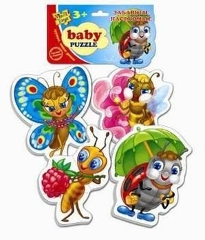 Пазл для самых маленьких Vladi Toys Забавные насекомые (VT1106-06)