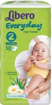 Подгузники Libero Everyday Mini 2 (3-6 кг) 50 шт. - Pampik