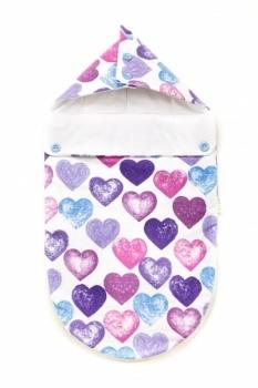 """Демисезонный конверт для новорожденного GOFORKID """"Настоящая любовь"""", фланель  (9801-202-037-2) Goforkid"""
