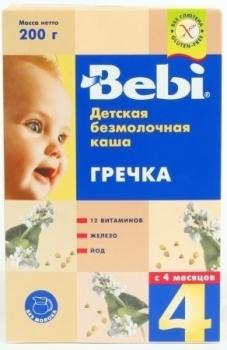 bebi Безмолочная каша Bebi гречневая, 200 г 1104310
