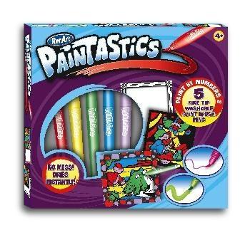 Купить:  Набор для рисования RenArt Paintastics Веселые приключения, 5 фломастеров+10 картин+2 рамки RenArt