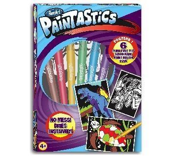 Набор для рисования RenArt Paintastics Boys, 6 фломастеров+6 картин RenArt  . Pampik