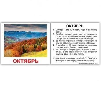 Мини-карточки Домана Вундеркинд с пеленок