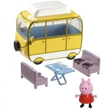Игровой набор Peppa Веселый Кемпинг (автобус, фигурка Пеппы) Peppa