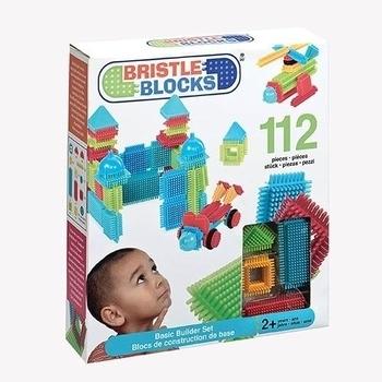 Конструктор-бристл Bristle Blocks Battat Строитель (112 деталей, в коробке) Battat