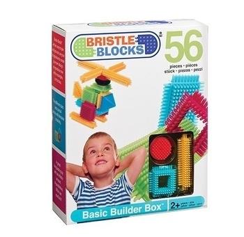 Конструктор-бристл Bristle Blocks Battat Строитель (56 деталей, в коробке) Battat
