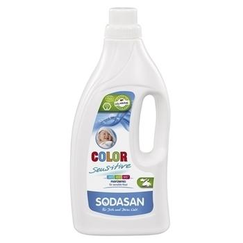 Органическое жидкое средство для стирки цветных и белых вещей Sodasan Color-sensitive, 1,5 л Sodasan
